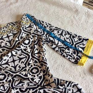Haani Dresses - Haani Black White and Yellow Dress